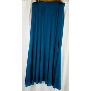 Jessica London Teal Maxi Skirt Sz 14/16 Tall